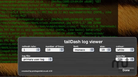 Screenshot 1 for tailDash