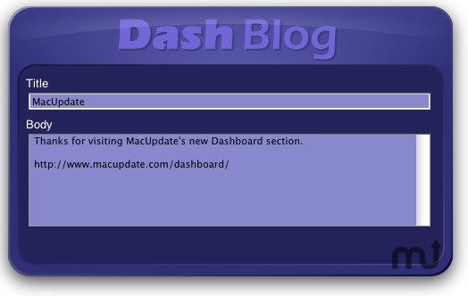 Screenshot 1 for Dashblog