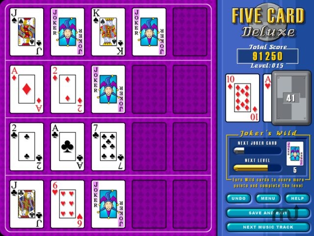 Screenshot 1 for Five Card Deluxe