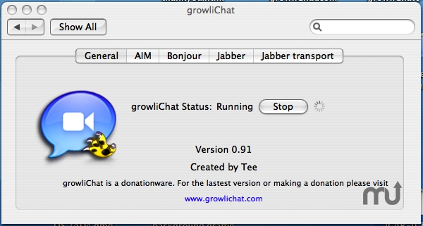Screenshot 1 for growliChat