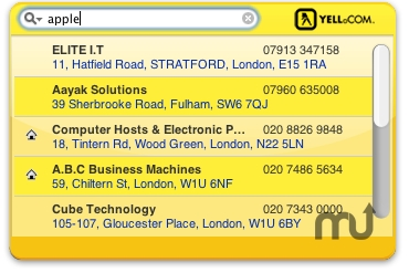 Screenshot 1 for UK Yellow Pages