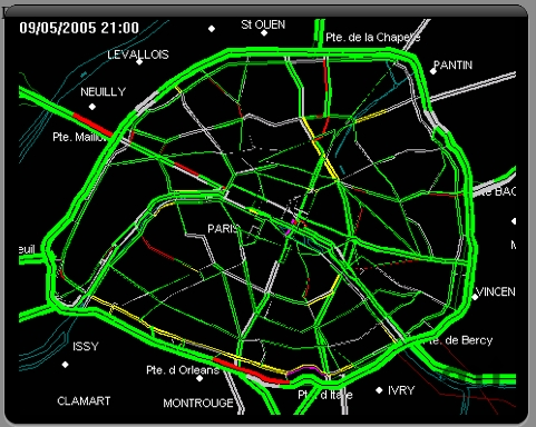 Screenshot 1 for Paris Traffic Widget
