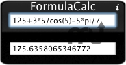 Screenshot 1 for FormulaCalc