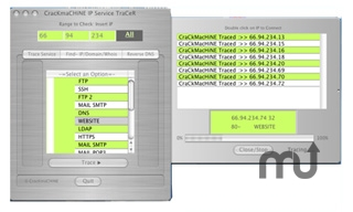 Screenshot 1 for CraCkMacHiNE IP Service TraCeR