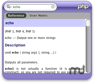 Screenshot 1 for PHPQuickReference