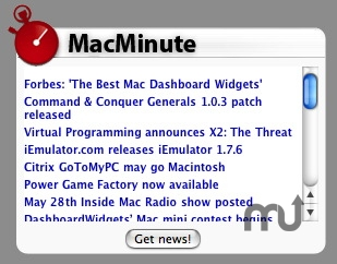 Screenshot 1 for MacMinute Widget