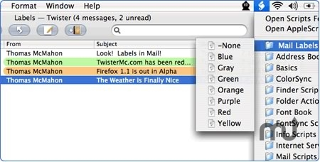 Screenshot 1 for Labels for Mail.app