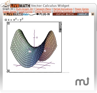 Screenshot 1 for LiveMath Vector Calculus Widget
