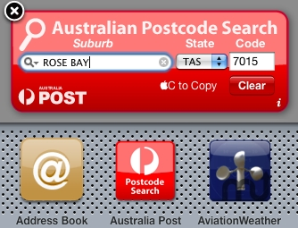 Screenshot 1 for Australia Post Widget