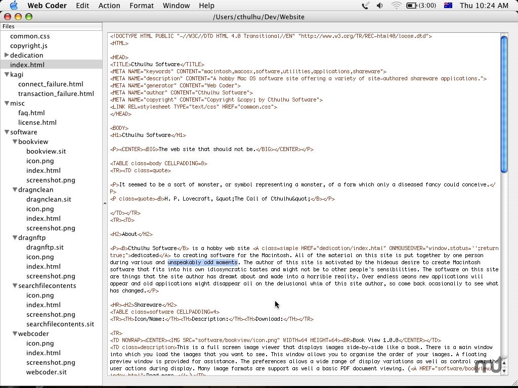 Screenshot 1 for Web Coder