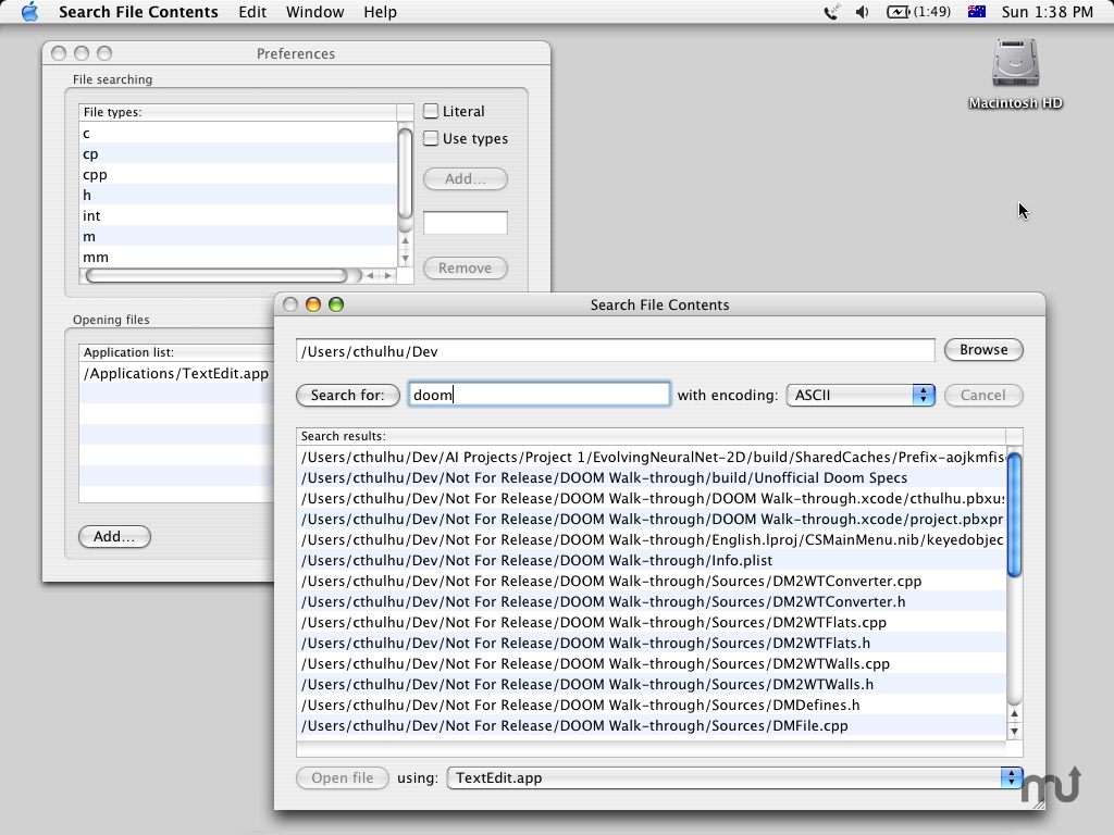 Screenshot 1 for Search File Contents
