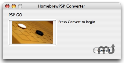 Screenshot 1 for HomebrewPSP Converter