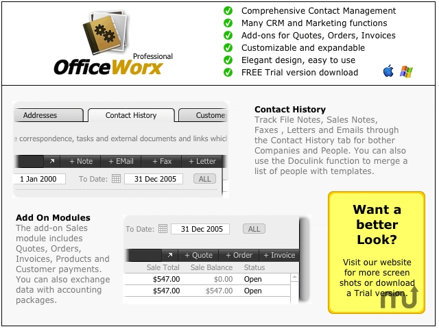 Screenshot 1 for OfficeWorx Professional