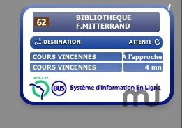 Screenshot 1 for Bus RATP Widget