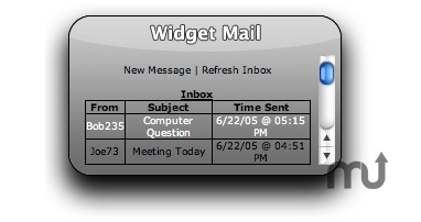 Screenshot 1 for Widget Mail