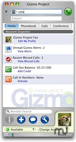 Screenshot 1 for Gizmo5