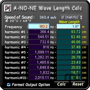 Screenshot 1 for Wave Length Calc