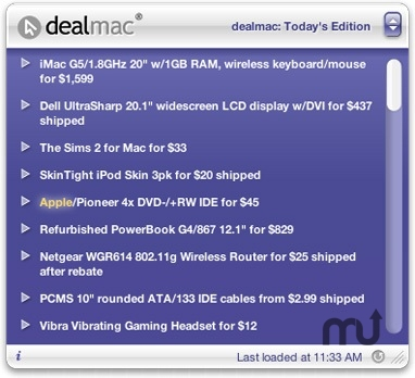 Screenshot 1 for dealmac Widget