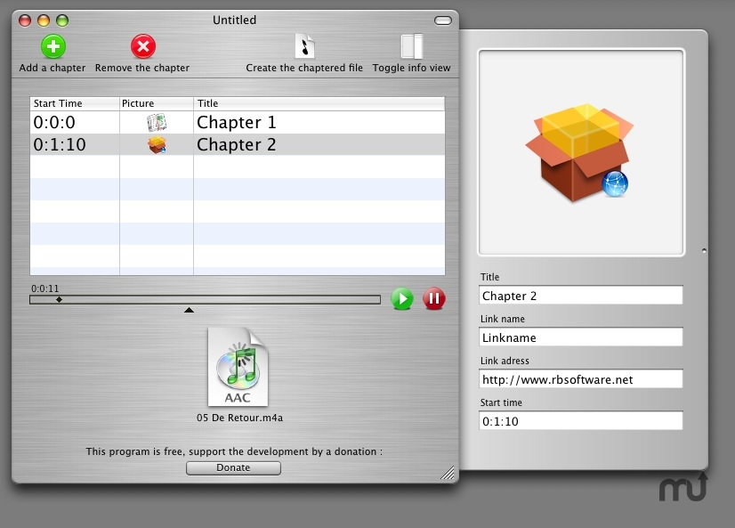 Screenshot 1 for ChapterToolMe