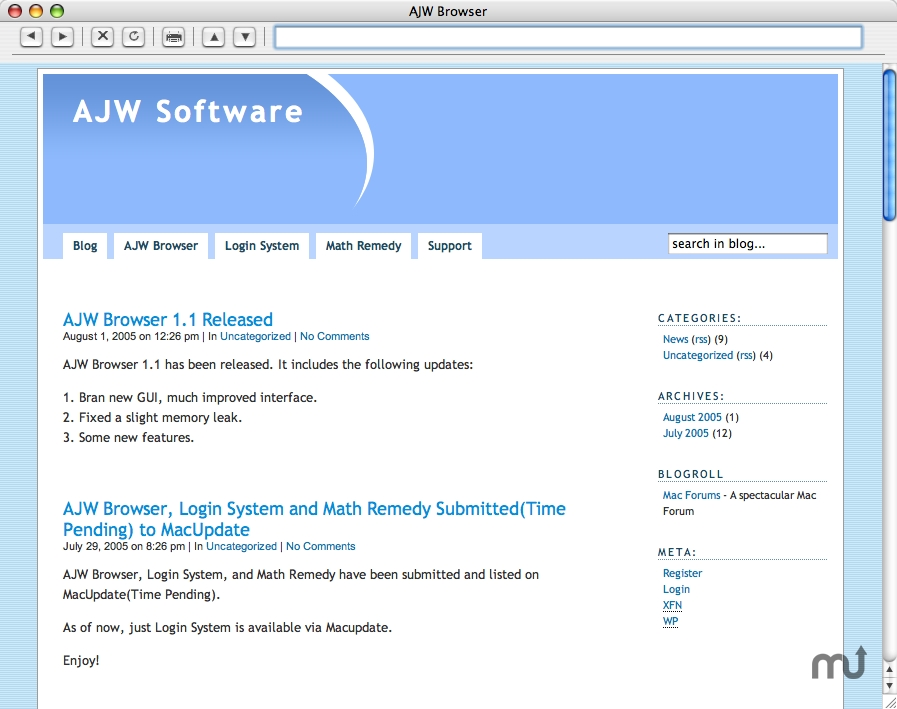 Screenshot 1 for AJW Browser
