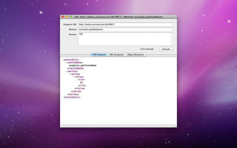 Screenshot 1 for XML RPC Client