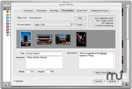 Screenshot 1 for iPhoto2PBase