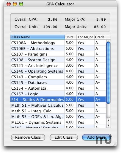 Screenshot 1 for GPA Calculator