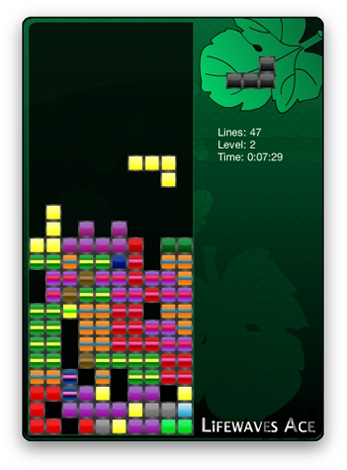 Screenshot 1 for Lifewaves Ace - Tetris