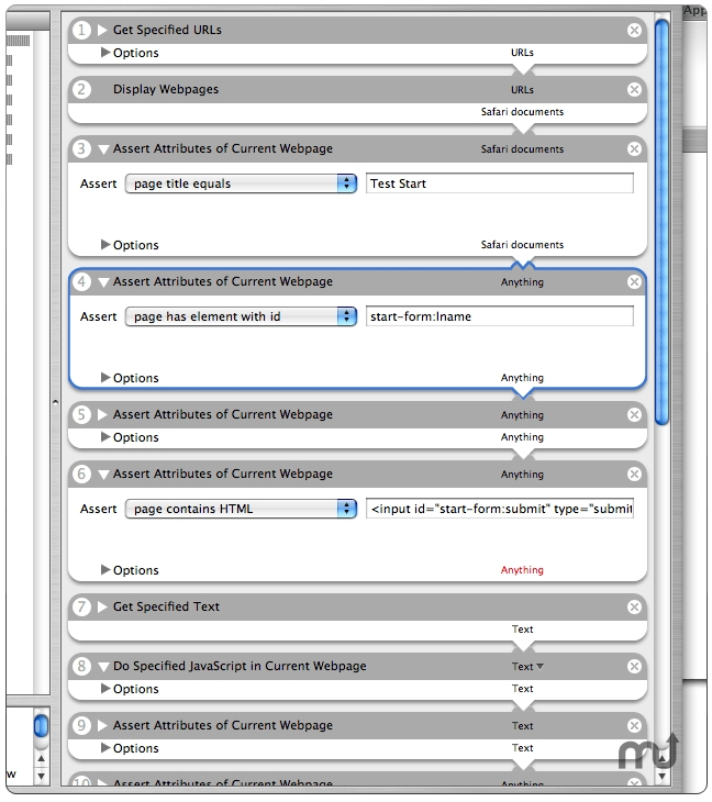 Screenshot 1 for OttoMate Web Test Automator Actions