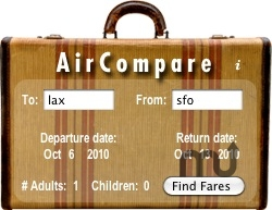 Screenshot 1 for AirCompare