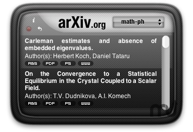 Screenshot 1 for arXiv Widget