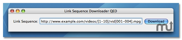 Screenshot 1 for Link Sequence Downloader QED