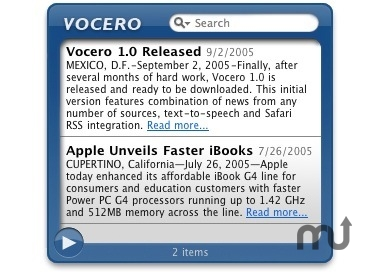 Screenshot 1 for Vocero Widget
