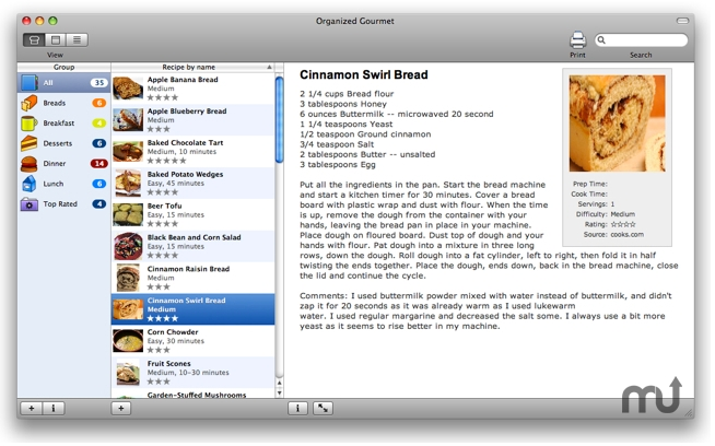 Screenshot 1 for Organized Gourmet