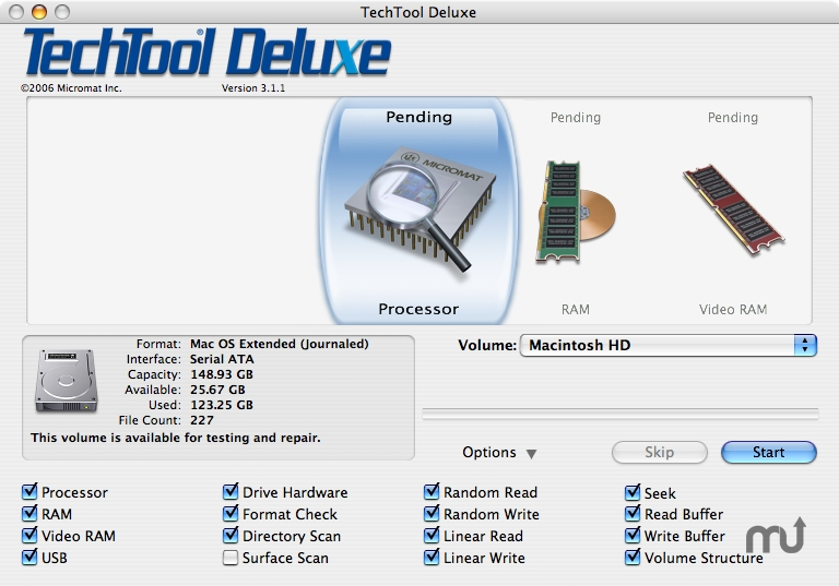 Screenshot 1 for TechTool Deluxe