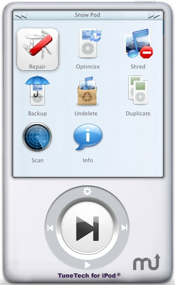 Screenshot 1 for TuneTech for iPod