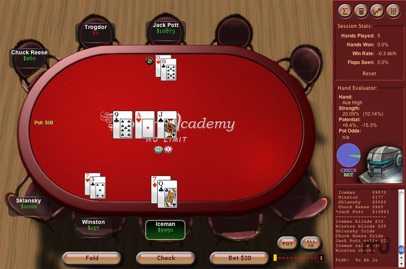 Screenshot 1 for Poker Academy