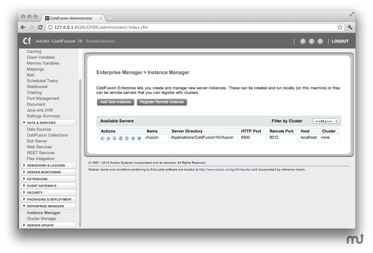 Screenshot 1 for Adobe ColdFusion