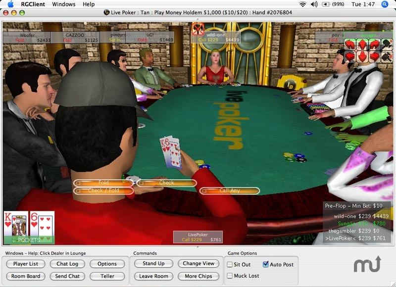 Screenshot 1 for Live Poker