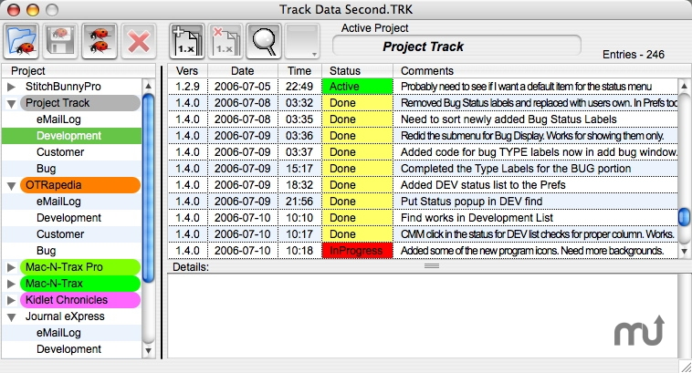 Screenshot 1 for Project Track