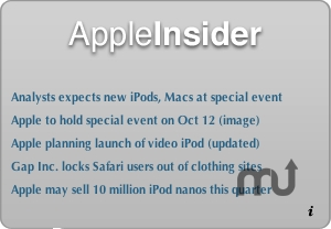 Screenshot 1 for AppleInsider Widget