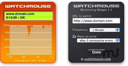 Screenshot 1 for WatchMouse Site Monitor