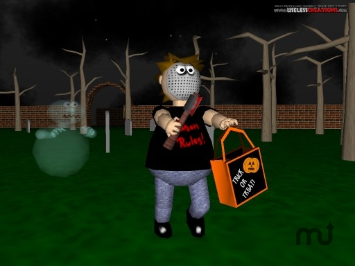 Screenshot 1 for A Horribly 3D Halloween Screen Saver