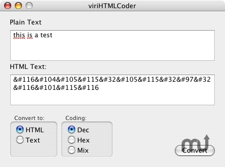 Screenshot 1 for viriHTMLCoder