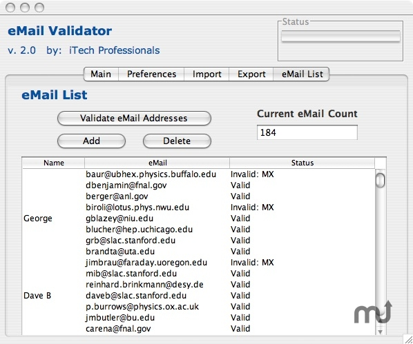 Screenshot 1 for eMail Validator