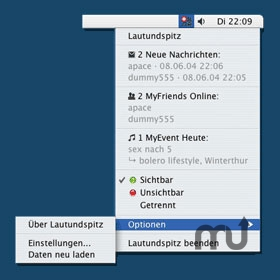 Screenshot 1 for Lautundspitz Desktop Client