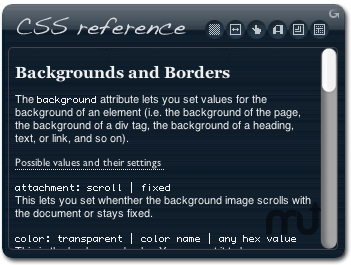 Screenshot 1 for CSS Reference