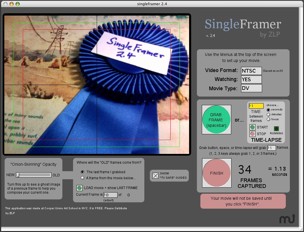 Screenshot 1 for SingleFramer