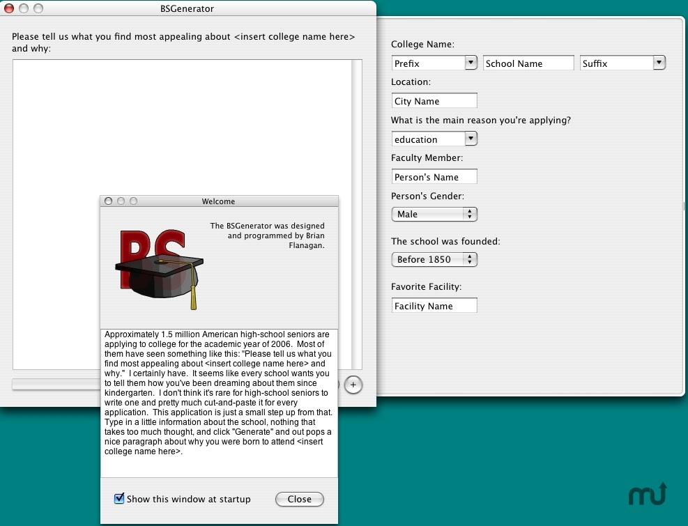 Screenshot 1 for BSGenerator