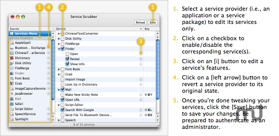 Screenshot 1 for Service Scrubber